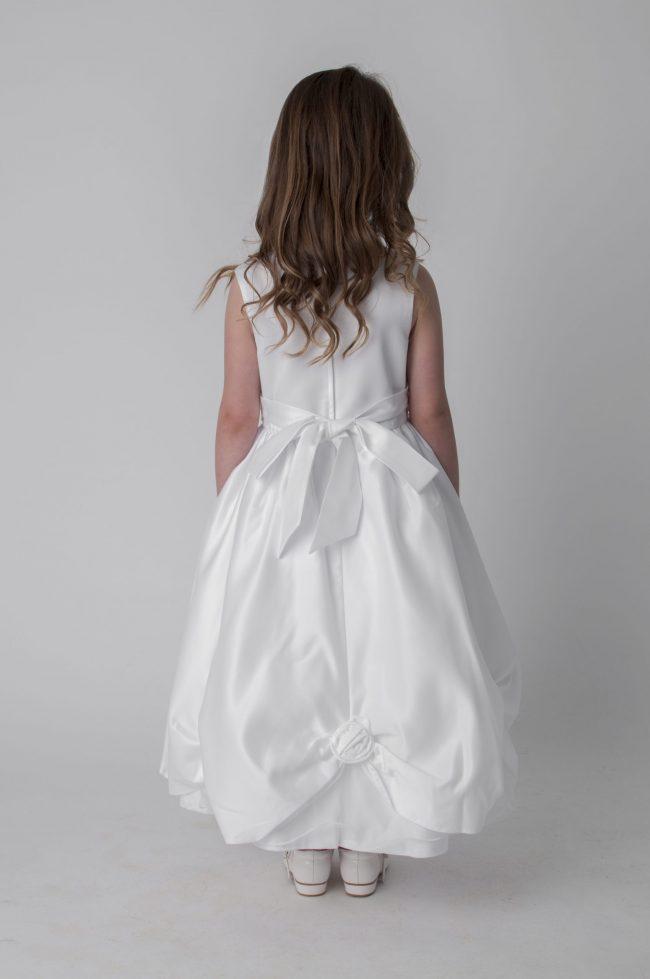 Visara Rosebud Dress In White W325-356
