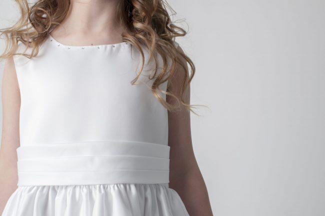 Visara Rosebud Dress In White W325-359