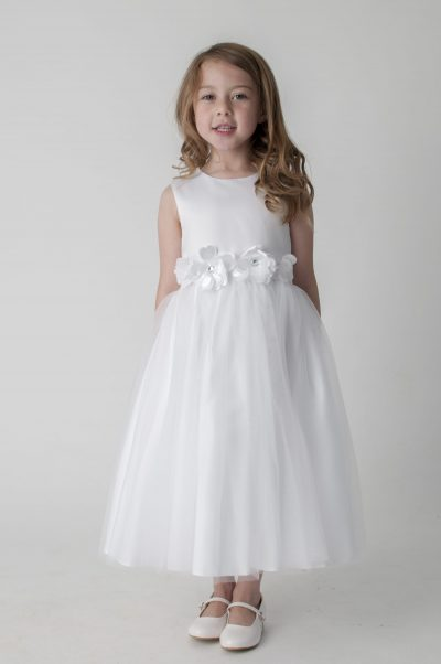 Visara Flower Dress In White V347-0