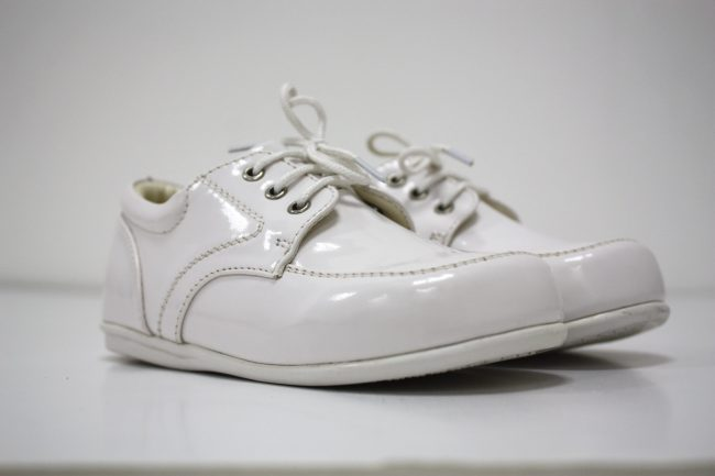 Boys Early Steps Royal Shoes in White-146