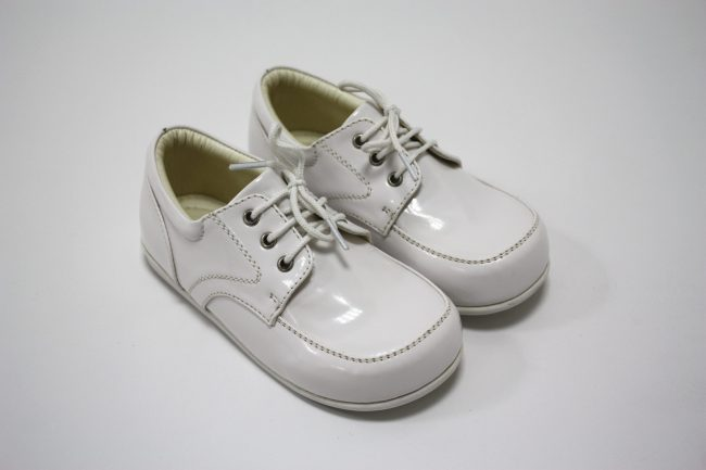 Boys Early Steps Royal Shoes in White-147