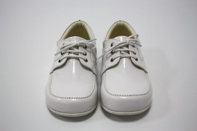 Boys Early Steps Royal Shoes in White-145