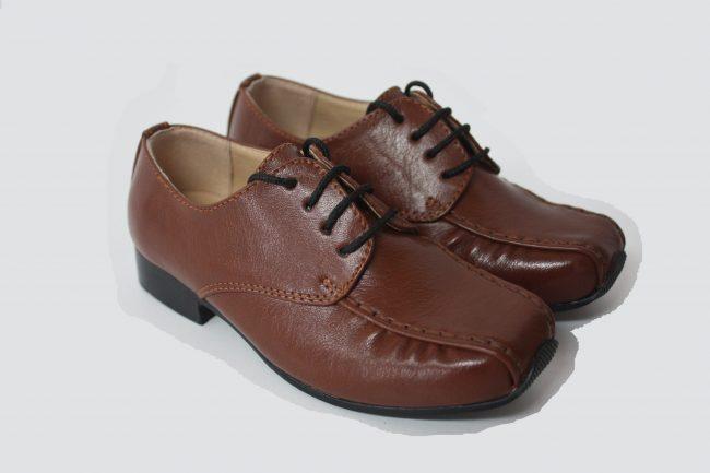 Boys Vivaki Harry Shoes in Brown-0