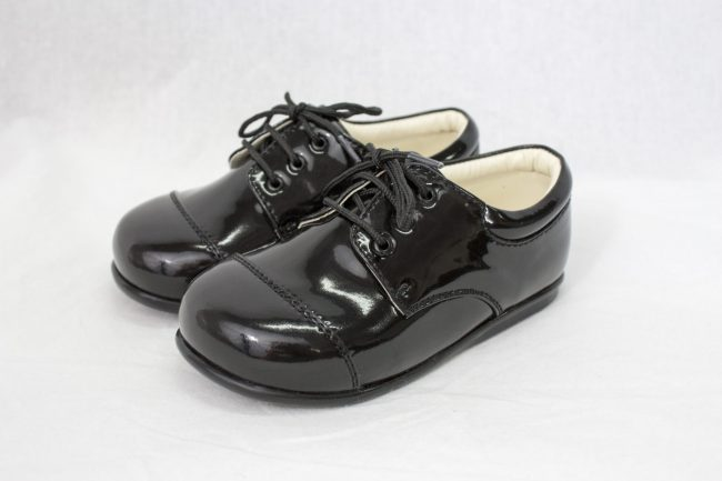 Boys Early Steps Royal Shoes in Black-0