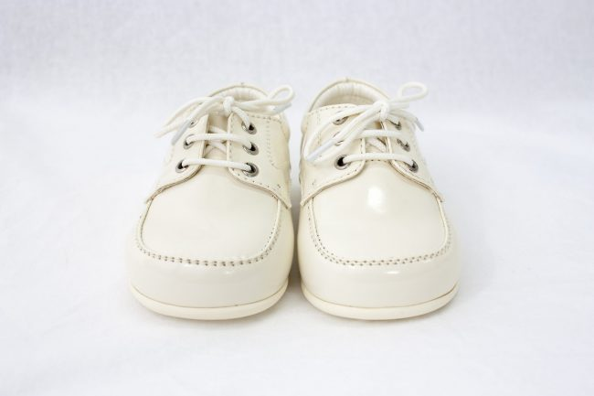 Boys Early Steps Royal Shoes in Cream-953