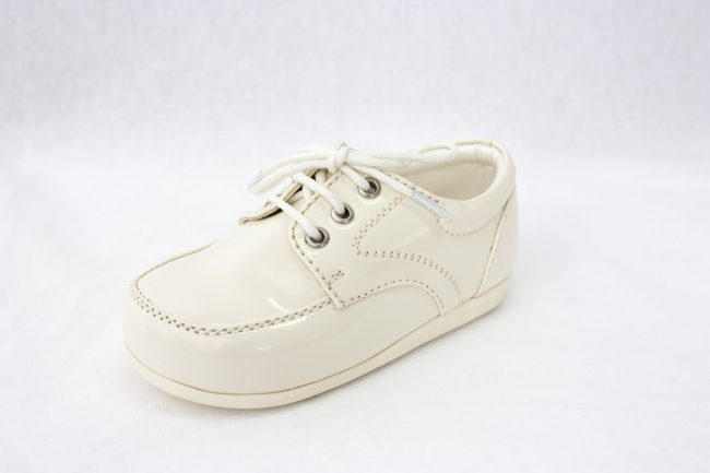 Boys Early Steps Royal Shoes in Cream-955