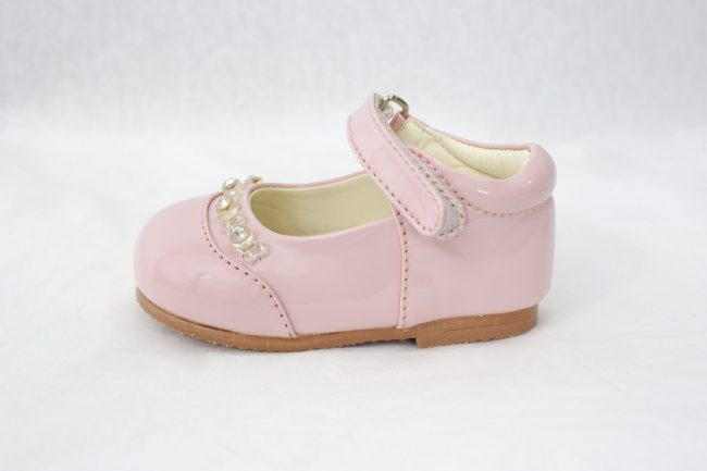 Girls Early Steps Diamond Shoes in Pink-933