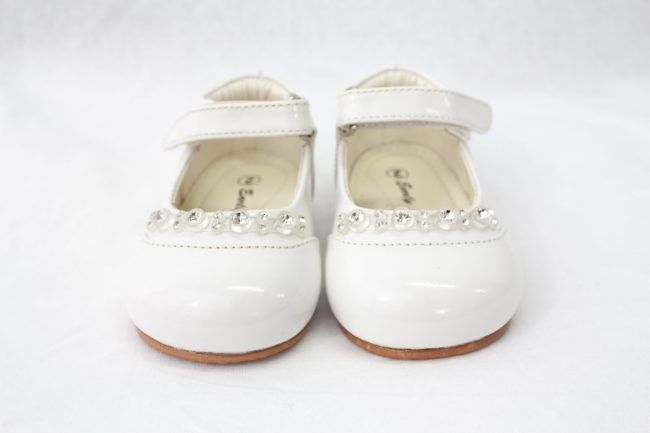 Girls Early Steps Diamond Shoes in White-922