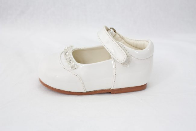 Girls Early Steps Diamond Shoes in White-919