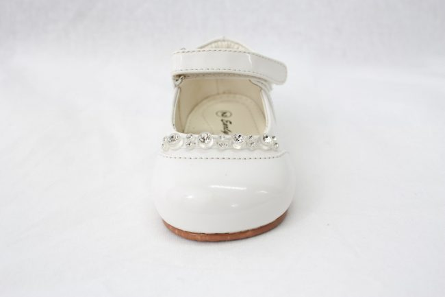 Girls Early Steps Diamond Shoes in White-921