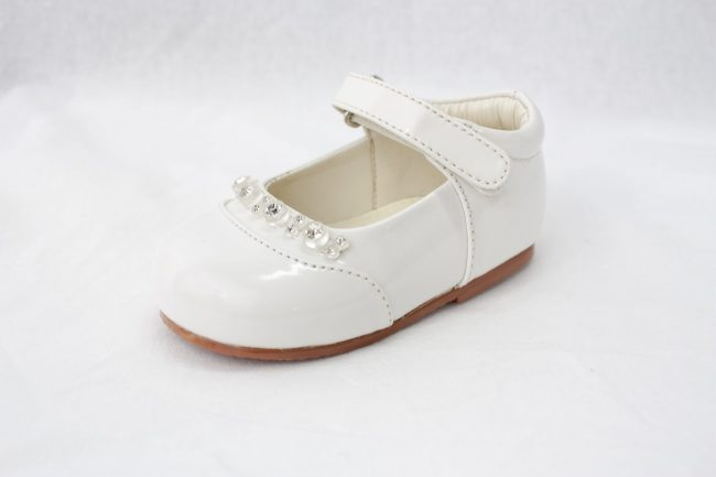 Girls Early Steps Diamond Shoes in White-920