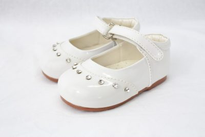 Girls Early Steps Fairy Shoes in White-0