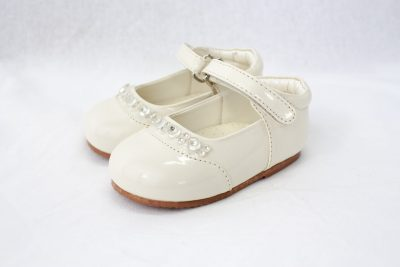 Girls Early Steps Diamond Shoes in Cream-0