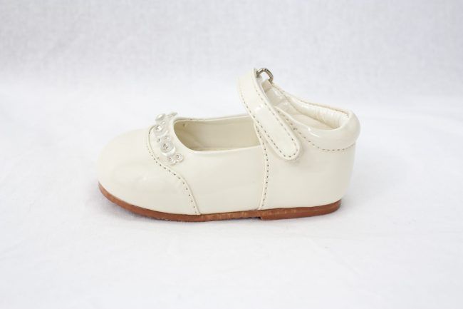 Girls Early Steps Diamond Shoes in Cream-926