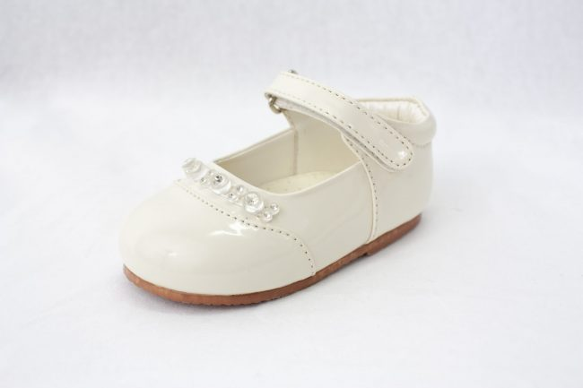Girls Early Steps Diamond Shoes in Cream-929