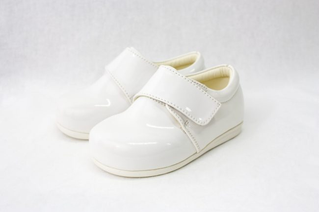 Boys Early Steps Prince Shoes in White-0