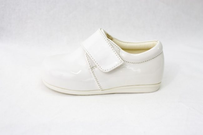 Boys Early Steps Prince Shoes in White-977