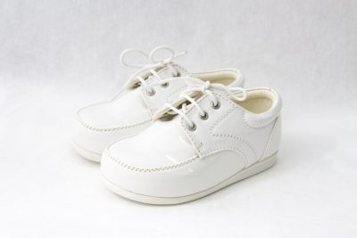 Boys Early Steps Royal Shoes in White-0