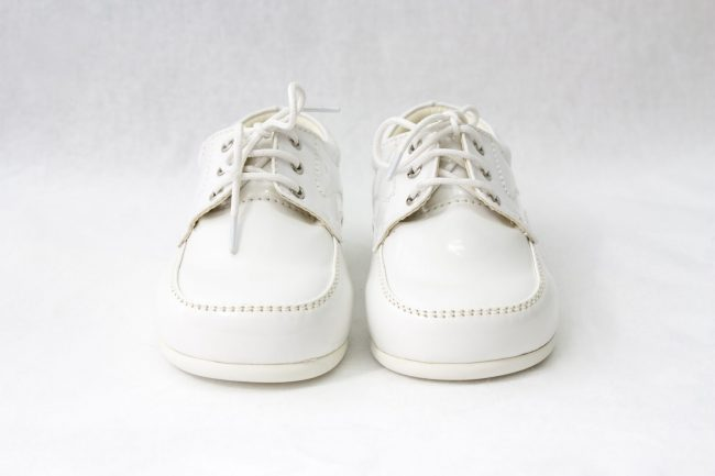 Boys Early Steps Royal Shoes in White-994