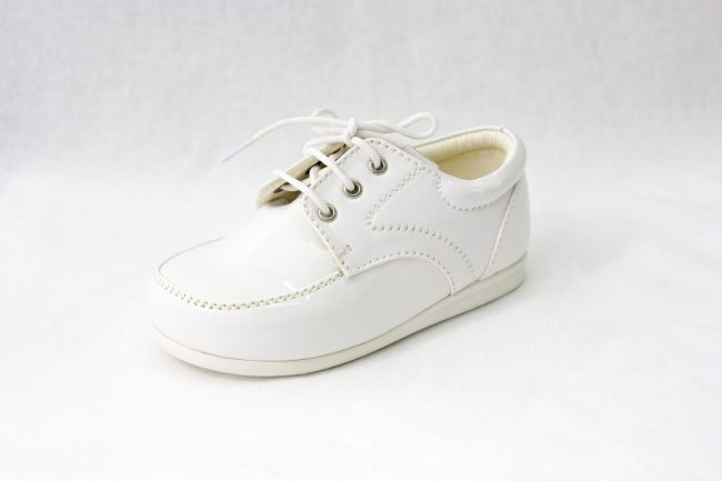 Boys Early Steps Royal Shoes in White-997