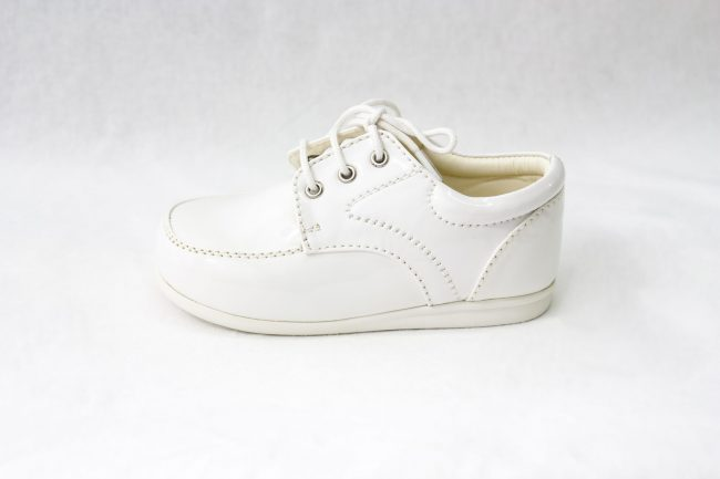 Boys Early Steps Royal Shoes in White-996