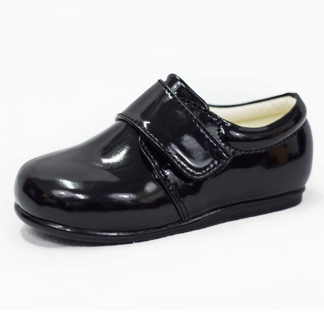 Boys Early Steps Prince Shoes in Black-0
