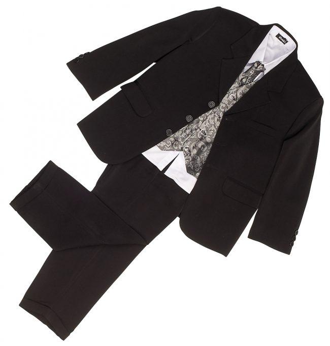 Vivaki 5 Piece Paisley Suit in Silver-77