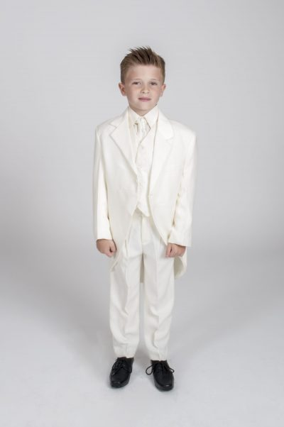 Vivaki 5 Piece Tail Suit in All Cream-0
