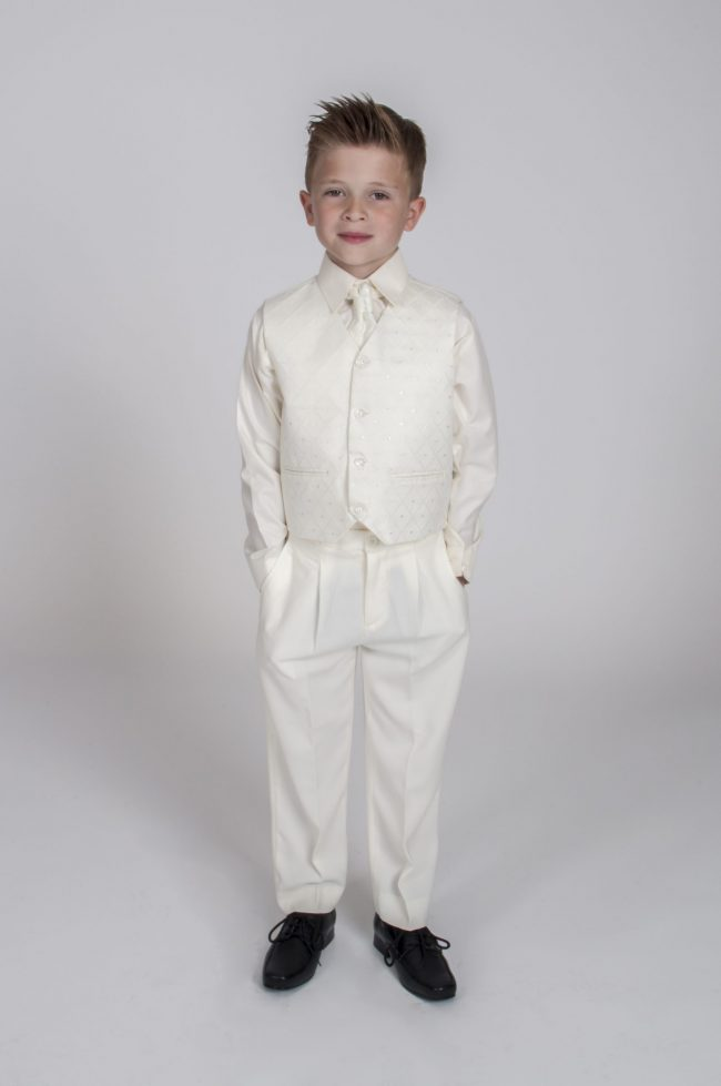 Vivaki 5 Piece Tail Suit in All Cream-488