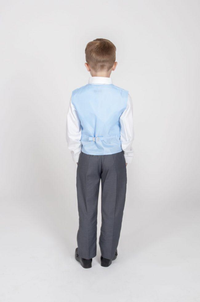 4pc Grey Diamond Suit in Blue-770