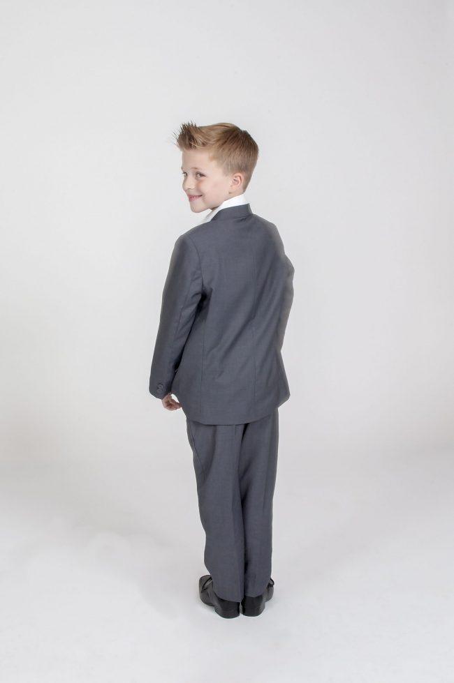 5pc Grey Diamond Suit in Purple-740