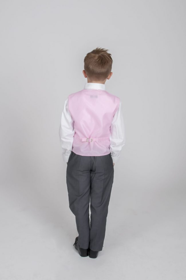 4pc Grey Diamond Suit in Pink-695