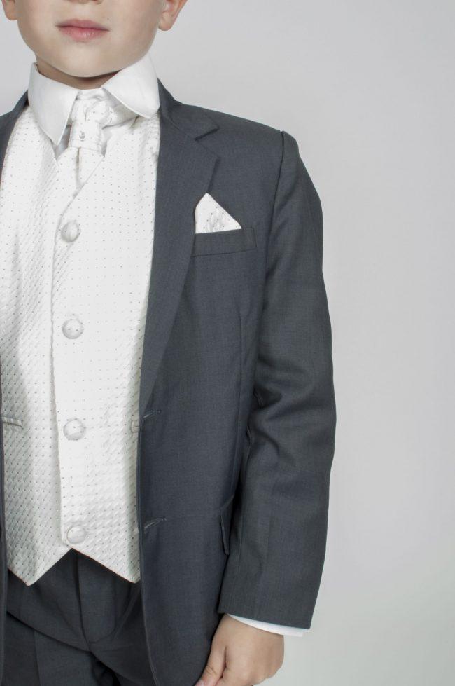 5pc Grey Diamond Suit in Cream-806