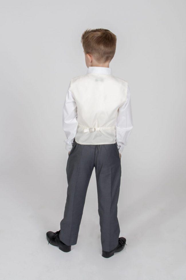 5pc Grey Diamond Suit in Cream-803