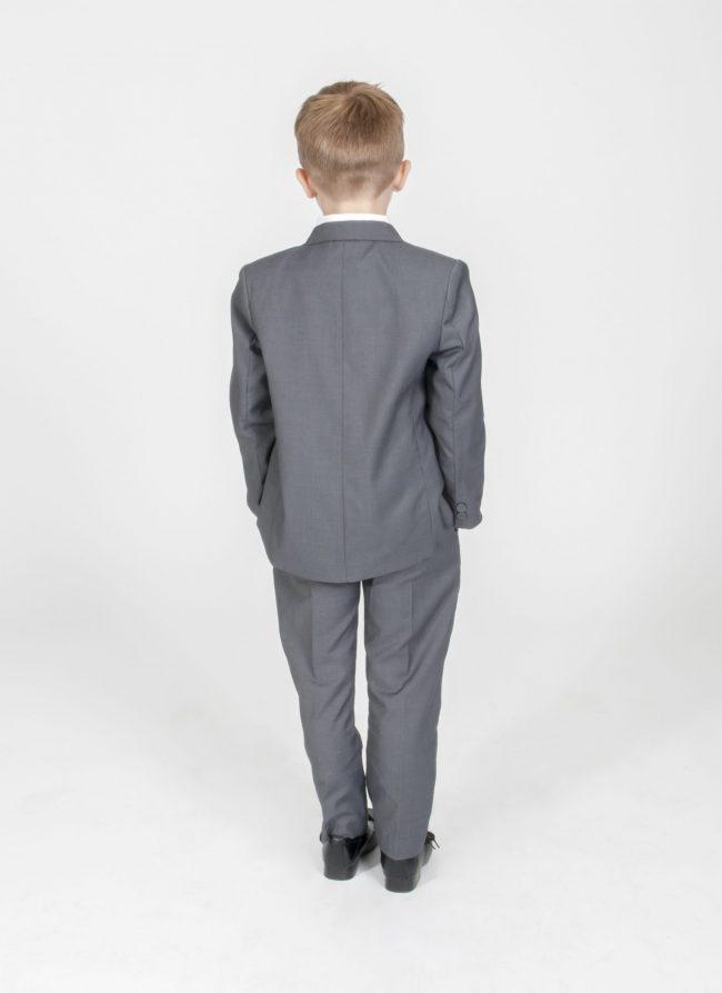 5pc Grey Diamond Suit in Ivory-633