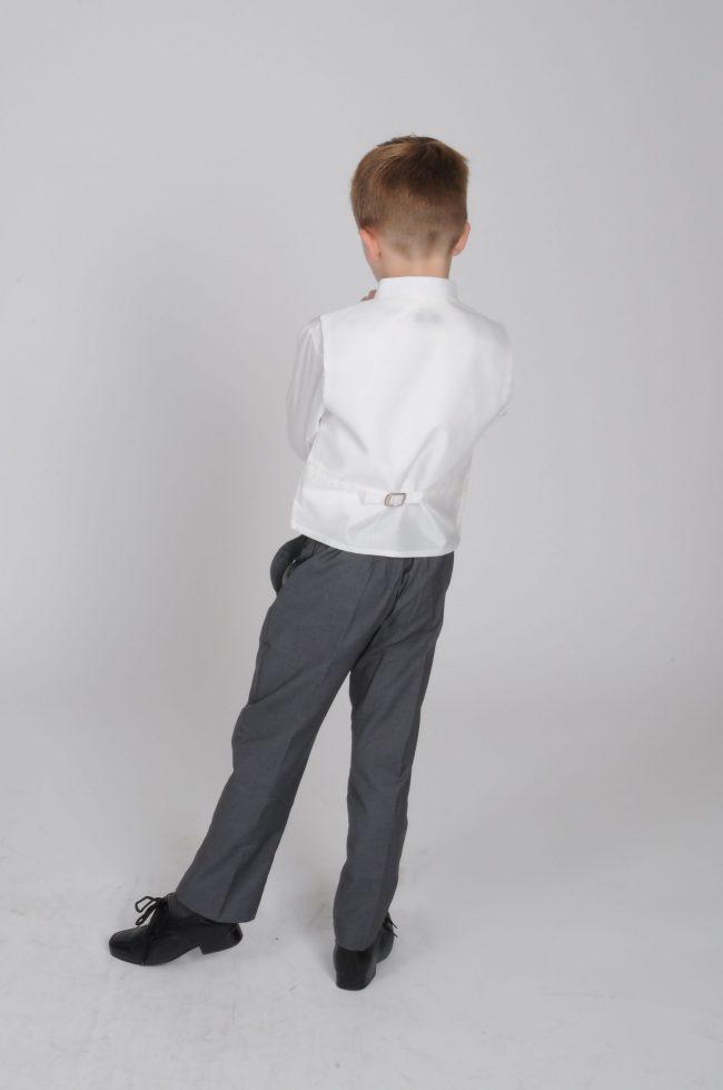 5pc Grey Diamond Suit in Ivory-628