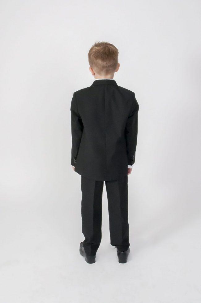 5pc Black Diamond Suit in Ivory-611