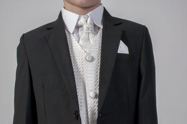 5pc Black Diamond Suit in Ivory-612