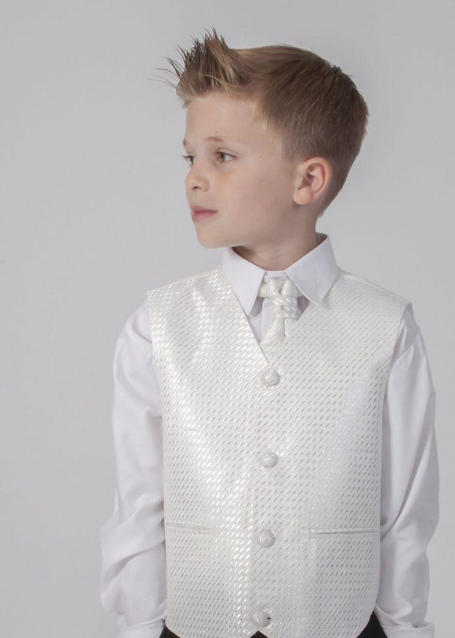 4pc Grey Diamond Suit in Ivory-617