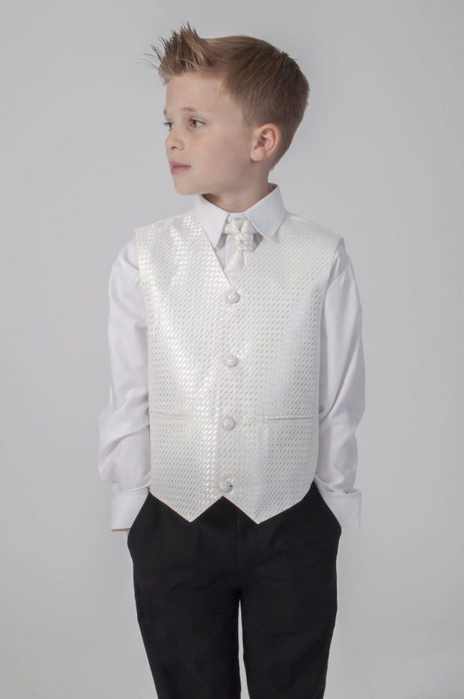 4pc Black Diamond Suit in Ivory-603