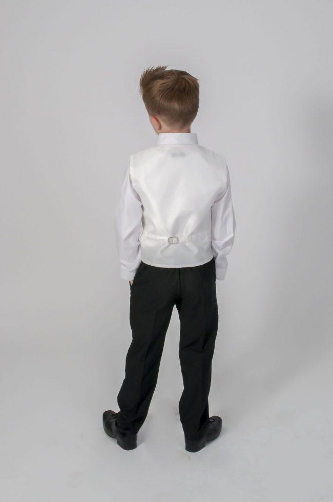 4pc Black Diamond Suit in Ivory-604