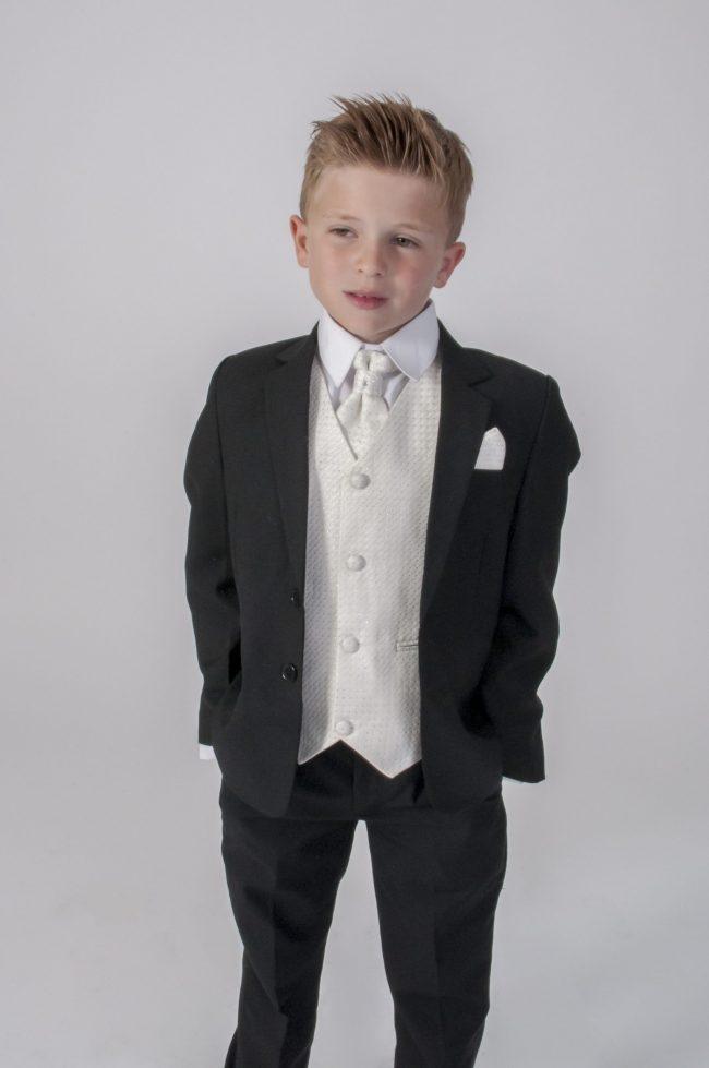 5pc Black Diamond Suit in Cream-785