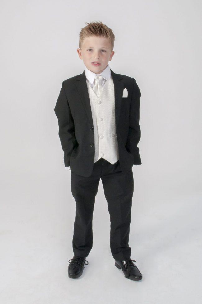 5pc Black Diamond Suit in Cream-0