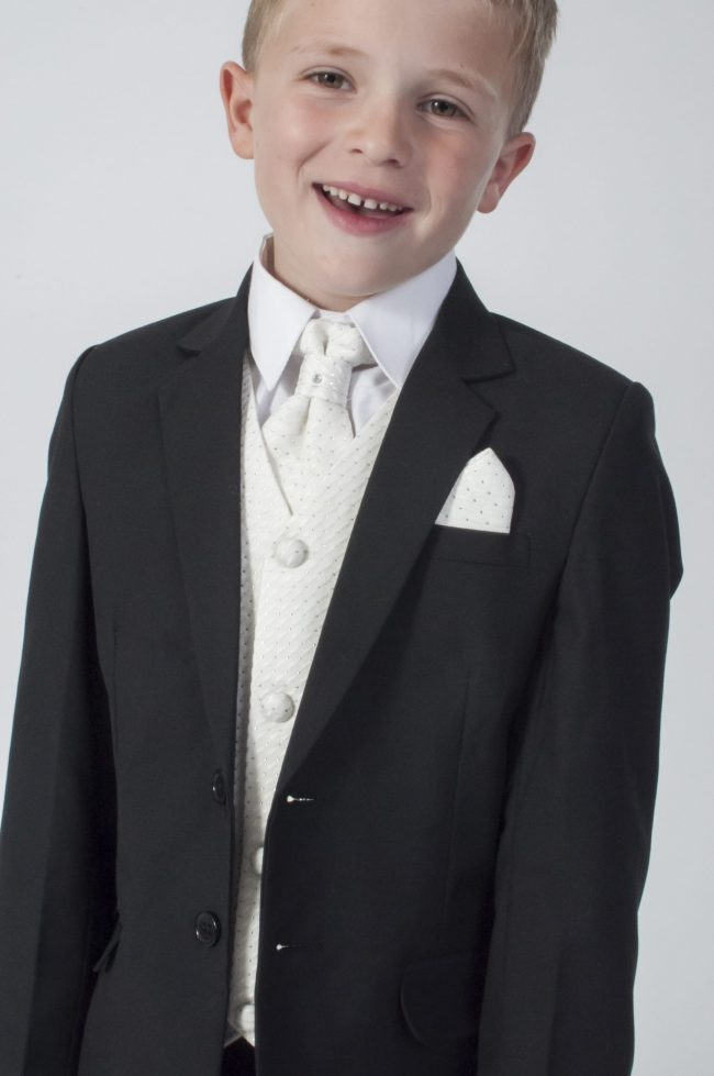 5pc Black Diamond Suit in Cream-786