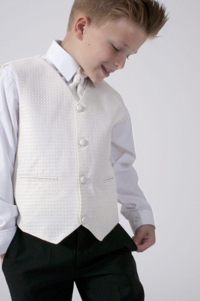 5pc Black Diamond Suit in Cream-783
