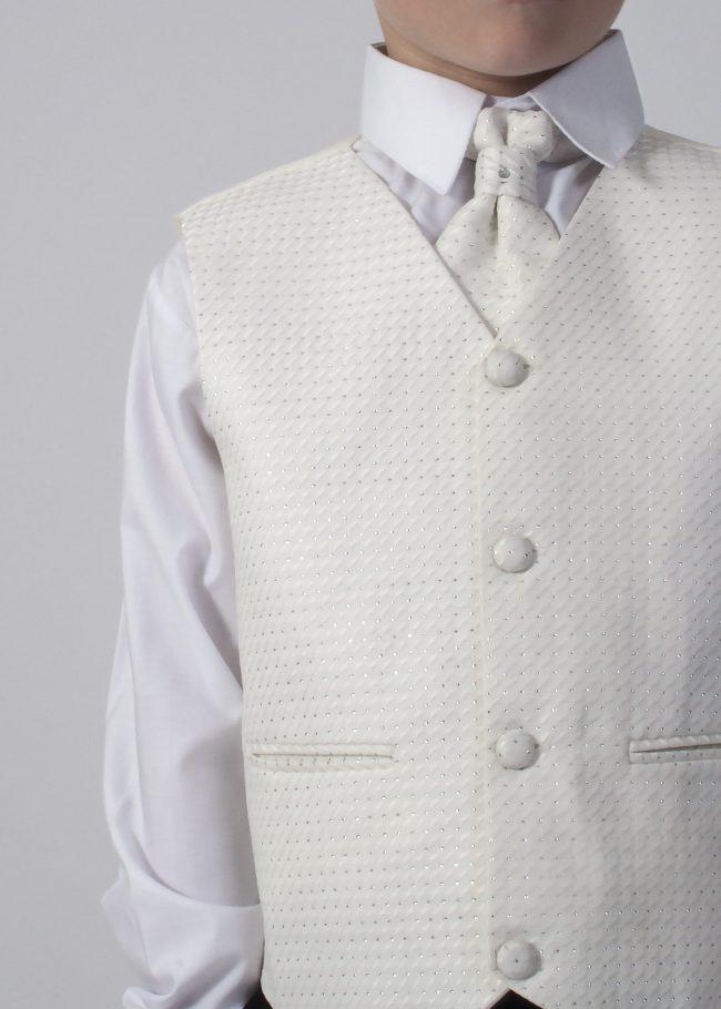 5pc Grey Diamond Suit in Cream-804