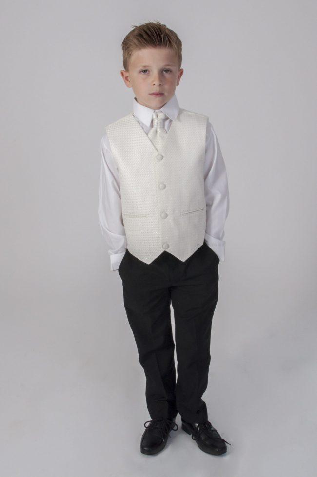 5pc Black Diamond Suit in Cream-788