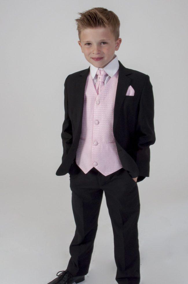 5pc Black Diamond Suit in Pink-675
