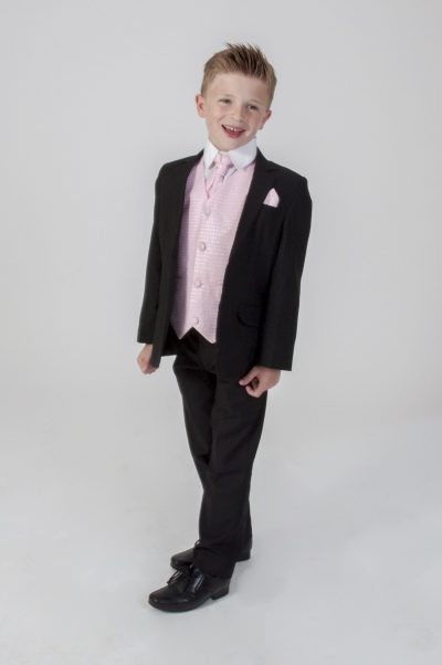 5pc Black Diamond Suit in Pink-0