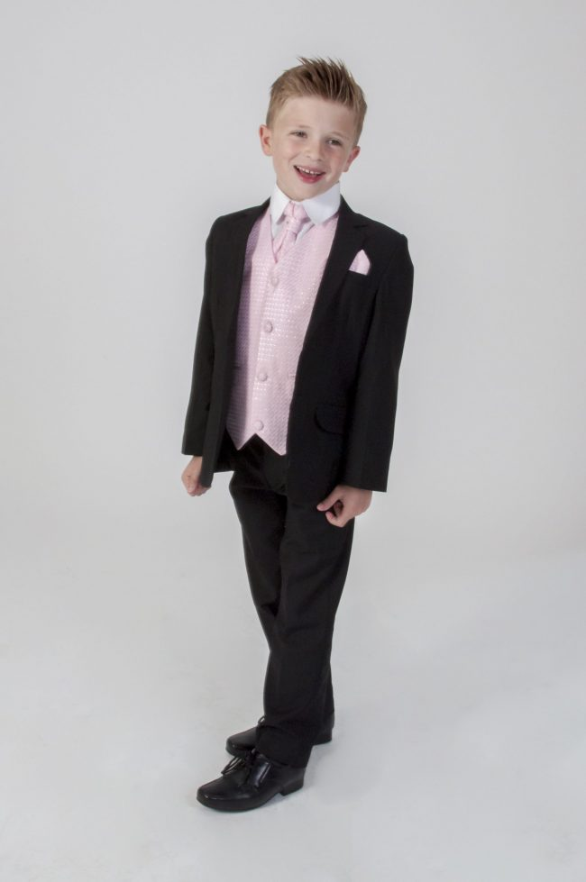 5pc Black Diamond Suit in Pink-0